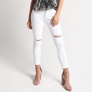 AGOLDE Sophie Crop Jean in White